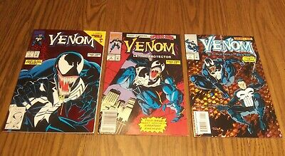 VENOM LETHAL PROTECTOR #1 FIRST VENOM SOLO BOOK NM & # 2 + Funeral Pyre # 1 lot