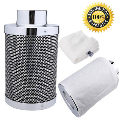 """HYDROPONIC ACTIVATED CARBON FILTER REMOVES ODORS 4/"""" BY 12/"""" REFILLABLE *"""