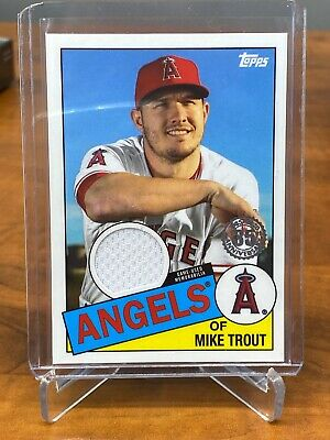 Mike Trout 2020 Topps Series 1 1985 Game Used GU Jersey Relic Angels