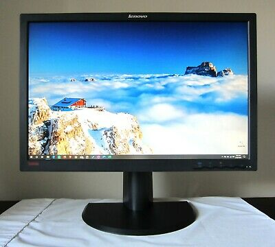 "24"" Lenovo L2440p 1920x1200 Full HD+ Monitor, Original Box, DVI and power cables"