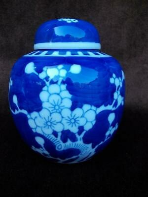 604 / Mid 20Th Century Chinese Porcelain Prunus Blossom Ginger Jar Witn Lid