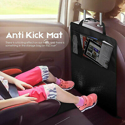 Kid Car Seat Back Storage Bag Organizer Holder Seat Cover Protector PVC Kick Mat
