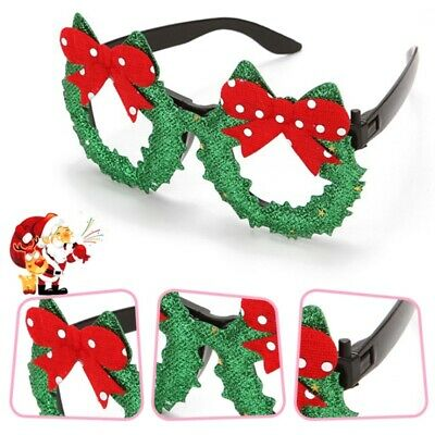 Cute Christmas Glasses Glitter Adult Children Glasses Frame Party Eyeglass NEW