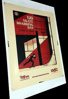 Go Skateboarding Day 2010 Test Print Poster Shepard Fairey Obey