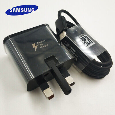 OEM Samsung Adaptive Fast Charger Type-C USB Cable Galaxy S8 S9 S10 + Note 8 9