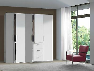 MAX / ARM / SERENA 2 3 4 Door Tall Wardrobes in Oak or White 80cm - 180cm