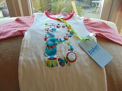 BAKER BY TED BAKER - Newborn Sleepsuit - Circus Theme NEW
