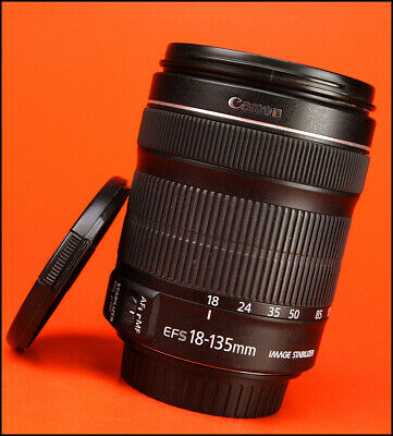 Canon EF-S 18-135mm f3.5-5.6 IS STM Image Stabilizer Zoom with Front & Rear Caps