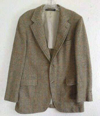Vintage Brooks Brothers Houndstooth Wool Men's Sportcoat Blazer 40 S Chest 44""