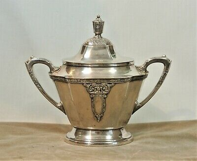 WALLACE Silver LADY ASTOR Sugar Bowl with Lid Vintage Silverplate Tea Set