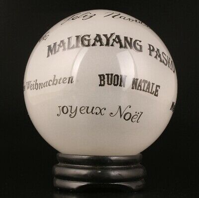P Chinese Coloured Glaze Decorative Ball Painting Art Collection Gift