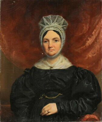 Rare antique Portrait of a Lady, 1836, oil on canvas signed and dated
