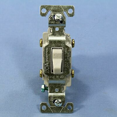 Cooper Electric Gray COMMERCIAL DOUBLE POLE Toggle Wall Light Switch 20A CS220GY