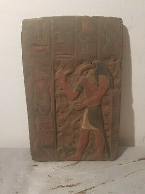 Rare Antique Ancient Egyptian Stela God Toth Ibis Science Writng Read1850-1760BC