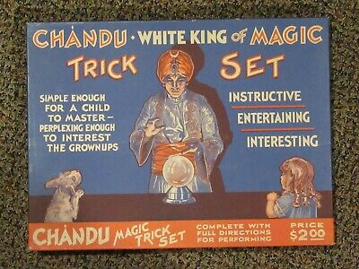 Chandu The Magician Magic Trick Set - mid 1930s - UNUSED & APPEARS AS NOS - NICE