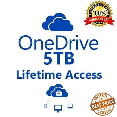 OneDrive 5TB Lifetime Account - Custom Login | Instant 1 Hour Delivery