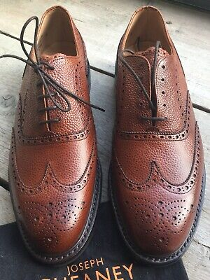 clearance sale great look classic styles CHEANEY HYTHE WINGCAP Brogue Shoe Mahogany Grain Leather Size UK 9 ...