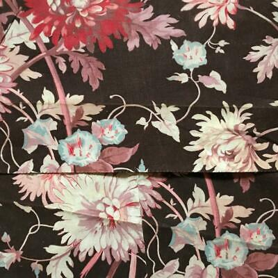 2 PIECES BEAUTIFUL 19th CENTURY FRENCH NAPOLEON III LINEN COTTON c1870 825