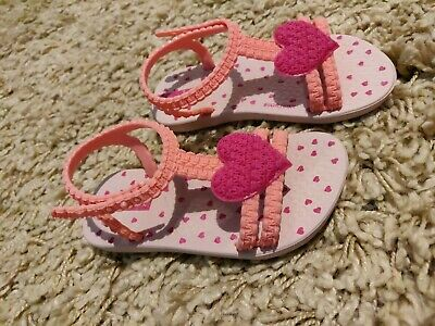 Ipamema Baby Girls Pink Jelly Sandals Heart Infant Size 5