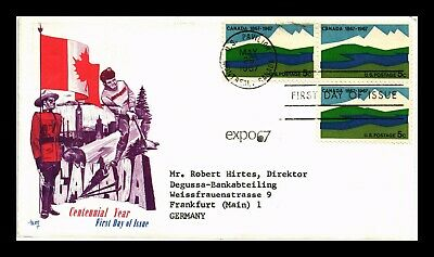 Dr Jim Stamps Us Canada Centennial Year Expo 67 First Day Marg Cover