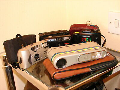 4 Collectable Cameras & Cases: Premier, Kodak, ITT & Sirius Tracker - Bargain!