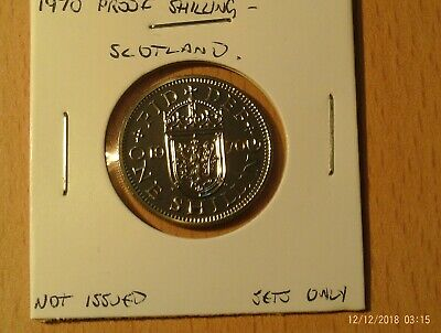 1970 Proof Shilling Coin 5p Scotland  Never circulated, untouched.  Last  Minted