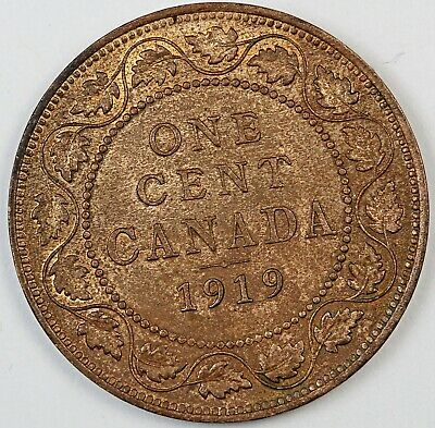 1919 Canada / Canadian One Large Cent / Penny - UNC Uncirculated Condition