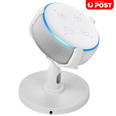 360° Adjustable Desk Stand Bracket Mount Holder For EchoDot 3Rd Generation White