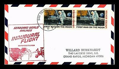Dr Jim Stamps Us San Francisco First Flight Air Mail Cover London Backstamp