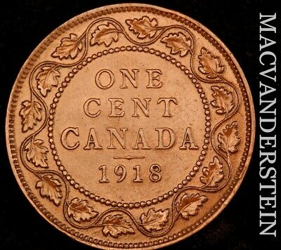 Canada: 1918 One Large Cent - Scarce  Extra Fine+/ Almost Uncirculated  #NR4721