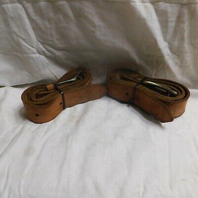 Pair of Klein Tools Leather Belts Size Large 5202L