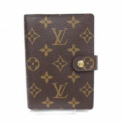 Authentic Louis Vuitton Diary Cover Agenda PM Browns Monogram 316590