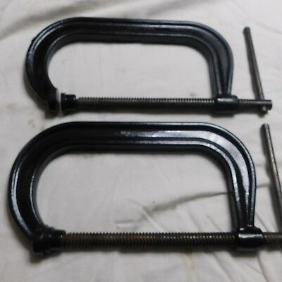 "Pair of Wright 8"" C-Clamps 408"