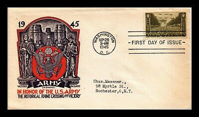 Dr Jim Stamps Us Army Victory On Guard First Day Cover Scott 934 Staehle