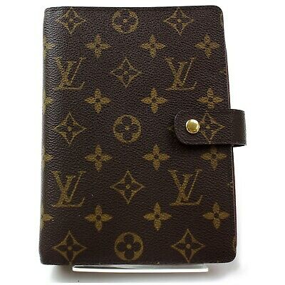 Authentic Louis Vuitton Diary Cover Agenda MM Browns Monogram 1113065
