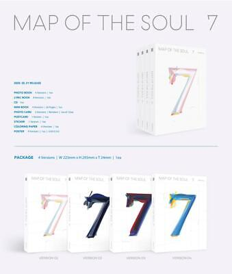 BTS Map of The Soul : 7 (Lyric+CD+M.Book+Post+Sticker+Paper) + Tracking No