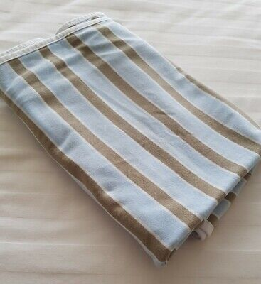 Lil Fraser Collection Stripe Jersey Wrap Blue Taupe Large 120cm Square