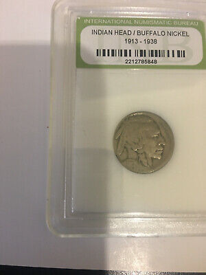 Indian Head/Buffalo Nickel 1913-1938 Five Cent Coin Prof Slabbed Scarse