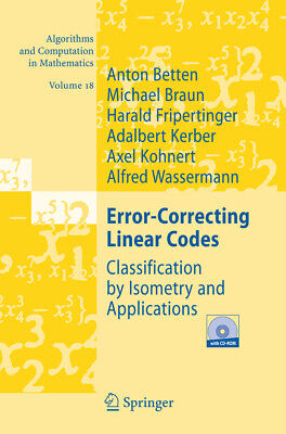 Anton Betten / Error-Correcting Linear Codes. Mit CD-ROM9783540283713