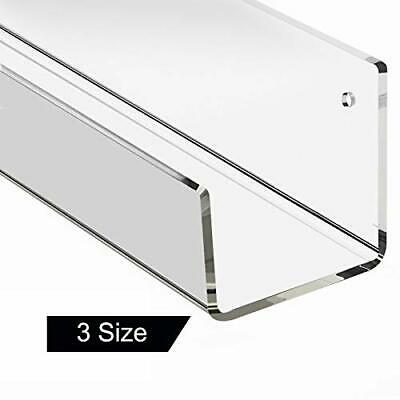 Clear Acrylic Floating Wall Mounted Shelf 16 inch, Unique Modern 1 Pack 16 inch