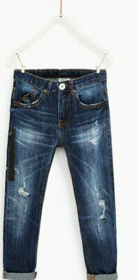 Coole ZARA Boys Denim Regular Jeans Gr. 164  Neu mit Etikett (Gummizug)