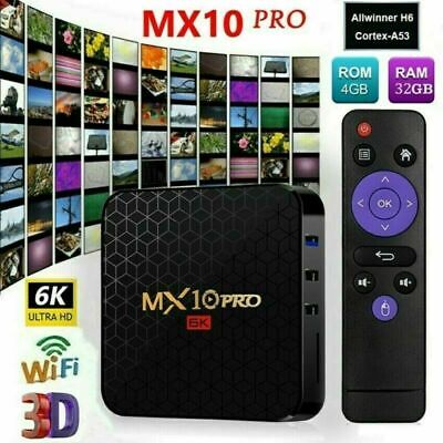 MX10 PRO 4G+64GB Android9.0 Quad Core Smart TV Box WIFI 4K H.265 Media+Tastier