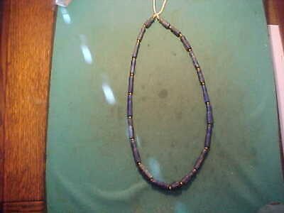 String of  ancient Roman  Lapis Lazuli  beads circa 200-400 AD.