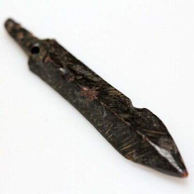 Extremely Rare Ancient Early Crusaders Bronze Arrowhead Circa 1000 Ad