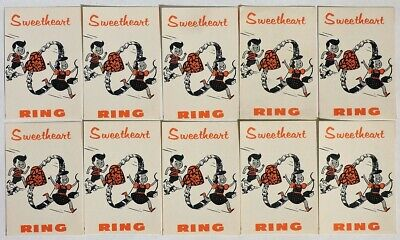 ESAR4188. VINTAGE: Lot of 10: SWEETHEART RING Vending Machine Ad Pieces (1960's)