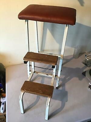 Vintage Retro Step Stool Folding Ladder Kitchen Stool Seat No.2