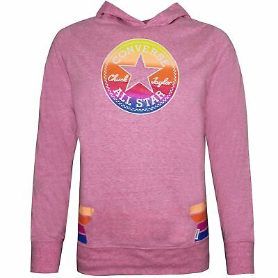Converse Junior Girls Sunset Hoodie Sweatshirt Pink 466283 A4P