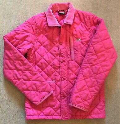 TRESPASS Pink Quilted Padded Girls Riding Jacket Coat age 11-12 years