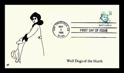 Dr Jim Stamps Us Wolf Dogs Of The North Jack London First Day Cover
