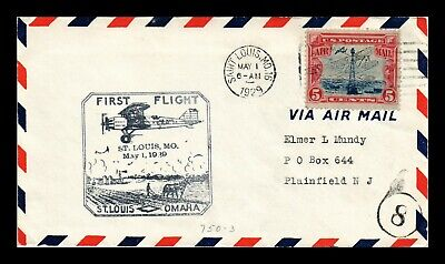Dr Jim Stamps Us St Louis First Flight Air Mail C11 On Cover 1929